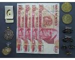 Lot: 1200 - PENDANT, TOKENS, FOREIGN CURRENCY & 10K RING
