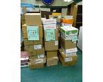 Lot: 68.UV - (41 BOXES) W/ LIBRARY BOOKS, VHS, DVDS, SLIDES