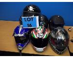 Lot: 16 - (7) Motorcycle Helmets