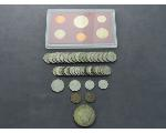 Lot: 7961 - COIN SET, PEACE DOLLAR, NICKEL, PENNIES & FOREIGN