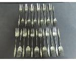 Lot: 1235 - STERLING DINNER FORKS