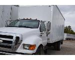 Lot: V-126 - 2007 Ford F750 Box Truck - Key / Runs & Drives