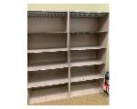 Lot: 1.FIN - (2) Metal Shelves & Office Supplies