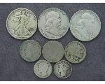Lot: 8011 - LIBERTY & FRANKLIN HALVES, DIMES & NICKELS