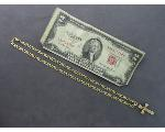 Lot: 8013 - RED SEAL $2 BILL, 10K CHAIN & 14K CROSS