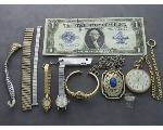 Lot: 8017 - WATCH, POCKET WATCH, BRACELET, PENDANT & 10K RING