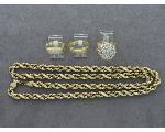 Lot: 8018 - 10K NECKLACE & 14K RINGS