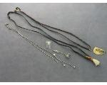 Lot: 8022 - NECKLACES, CHARMS, TIE TACK & 14K RING