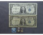 Lot: 8030 - U.S. CURRENCY, STAMP & 10K RINGS