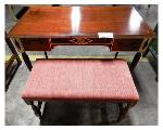 Lot: 02-23445 - Desk w/ Bench Seat