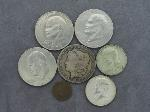 Lot: 1334 - MORGAN & IKE DOLLARS, KENNEDY HALVES & PENNY