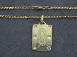 Lot: 8189 - 14K PENDANT & 14K NECKLACE