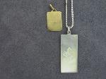 Lot: 8190 - SILVER NECKLACE & PENDANT & 18K PENDANT
