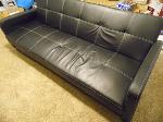 Lot: A7762 - Dorel Leather Futon Sofa