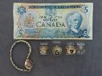 Lot: 8197 - WATCH, FOREIGN BILL & 10K RINGS