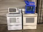 Lot: 02 - (2) Stoves, Microwave & Snowcone Machine
