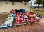 Lot: 10686 - (Approx 100) Fire Extinguishers/Propane Tanks