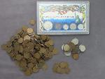 Lot: 316 - COIN SET, WHEAT PENNIES & FOREIGN COINS