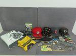 Lot: 324 - PINS, RINGS, KINVES, EARRINGS, HATS & XBOX SET