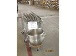 Lot: 104 - MIXING BOWL W/ DOLLY & PROOFING RACK
