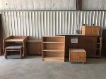 Lot: 222.ELM MOTT - (7pc) Furniture