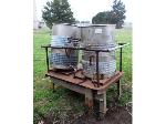 Lot: 02-23557 - Stainless Steel Buckets on Cart