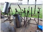 Lot: 02-23563 - (2) Stainless Steel Containers & (3) Stands