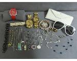 Lot: RL 13 - NECKLACES, BRACELETS, EARRINGS & WATCHES