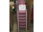 Lot: 725 - (32) SMALL PINK CHAIRS