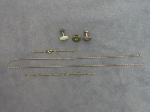 Lot: 8361 - CUFF LINKS & 10K CHAINS