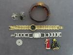 Lot: 8382 - WATCHES, LAPEL PINS, SILVER RING & 10K RING