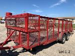 Lot: 1 - 2010 18-ft Ulility Cage Trailer