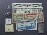 Lot: 1465 - U.S. CURRENCY, STERLING RING & PLATINUM RING
