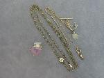 Lot: 1470 - POCKET WATCH CHAINS & 14K RING