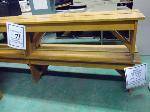 Lot: 71.UV - (2) WOOD BENCHES & WOOD STAND