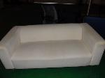 Lot: 74.UV - IKEA LOVE SEAT W/ PILLOWS