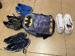 Lot: 803 - (4 PAIRS) OF SHOES & BACKPACK