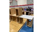 Lot: 102,103&104 - (4) Built-In Desk/ Counter Tops, Sheving Unit & Counter Top