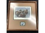 Lot: 18 - 1989 & 1990 Original Duck Stamp Prints Framed