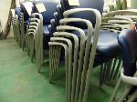 Lot: 71.UV - (37) HAWORTH IMPROV NAVY BLUE STACKABLE CHAIRS