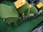 Lot: 73.UV - (45) HAWORTH IMPROV SAGE GREEN STACKABLE CHAIRS