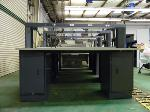 Lot: 77.UV - STEEL WORK STATION WITH 2 CABINETS