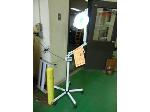 Lot: 82.UV - EQUIPRO WHITE ROLLING CART, BUY RITE MAGNIFYING LAMP, EQUIPRO STEAM MACHINE, WHITE ROLLING STAND