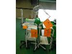Lot: 84.UV - EQUIPRO VAPORIZER, EQUIPRO WHITE ROLLING CART, BUY RITE MAGNIFYING LAMP ON A CART, WHITE ROLLING CART