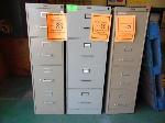 Lot: 88.UV - (5) 4 DRAWER FILE CABINETS, BOOK CASE