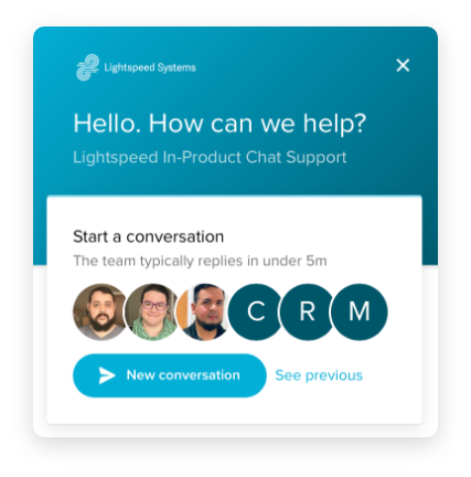 Lightspeed Filter Chat Support Screen shot