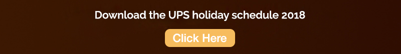UPS Holiday Schedule
