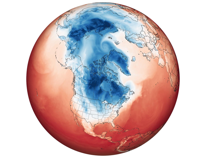 polar vortex in canada and america
