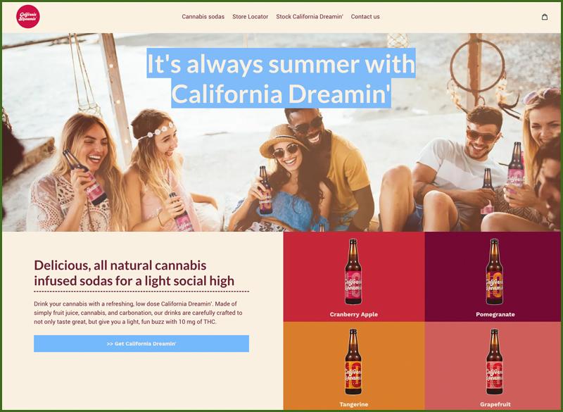 california dreamin cannabis beverage