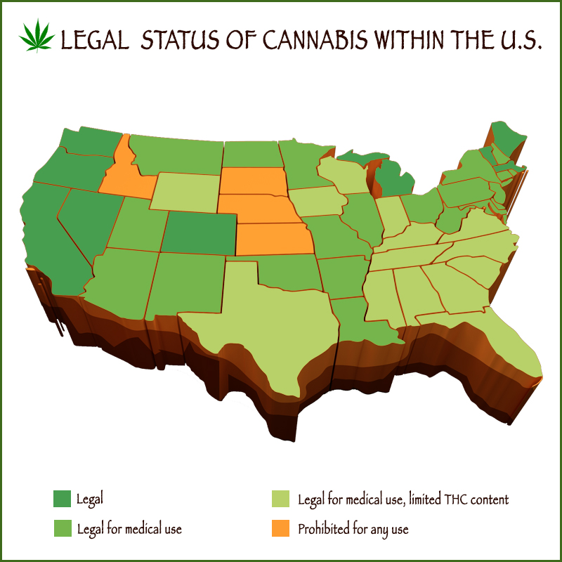 states where cannabis is legal in America